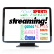 Royalty-Free Stock Photo: Streaming Content on HDTV Television Watch Programs