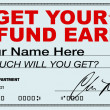 Stock Photo: Get Your Tax Refund Early - File Now for Fast Return of Refunds