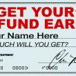 Get Your Tax Refund Early - File Now for Fast Return of Refunds - Stock Photo