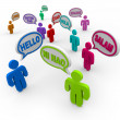 Hello in Different International Languages Greeting - Stock Photo