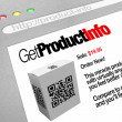 QR Code - Web Screen Website of Product Information — Stock Photo #7653849
