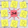 Many Unemployed Candidates Compete for One Job — Stock Photo