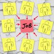 Many Unemployed Candidates Compete for One Job — Stock Photo #7653858
