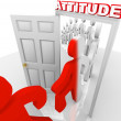 Attitude Changes for Success and Achievement - Stock Photo