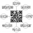 Stock Photo: QR Code Scan Barcode to Learn Info on Products