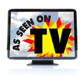 As Seen on TV - High Definition Television HDTV — Zdjęcie stockowe