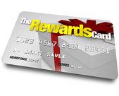 La carte de crédit récompenses gagner des remboursements et remises — Photo
