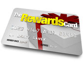 The Rewards Credit Card Earn Refunds and Rebates — Stock Photo