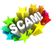 Scam 3D Word Swindle Con Game to Cheat You Out of Money — Foto Stock