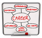 Career Diagram Dry Erase Board How to Succeed in Job — Stock Photo