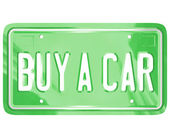 Buy a Car License Plate Auto Shopping Buying Vehicle — Stock Photo