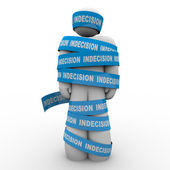 Paralyzed Bound by Indecision Make a Choice or Die — Stock Photo