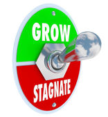 Grow Vs Stagnate - Switch to Change or Innovate and Succeed — Stock Photo