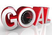 Goal Speedometer Quickly Racing to Success Achievement — Stock Photo