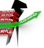 Plan Ahead Beats No Planning in Overcoming Problem Crisis — Stock Photo