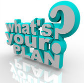 What's Your Plan - Ready Planning for Success Strategy — Stock Photo