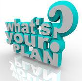 ¿cuál es su plan - la planificación listo para la estrategia de éxito — Foto de Stock