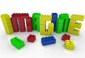 Imagine Word in Toy Plastic Blocks Idea Creativity — Stock Photo