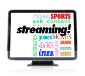 Streaming Content on HDTV Television Watch Programs — Stock Photo