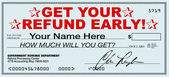 Get Your Tax Refund Early - File Now for Fast Return of Refunds — Stock Photo