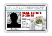 Laminated Card - Real Estate License for Agent Professional — Stock Photo