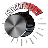 Attitude Volume Knob Turned to Highest Level to Succeed — Stock Photo