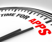 Time for Apps Clock Need to Program Mobile Applications — Stock Photo
