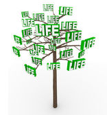 Tree of Life - Natural Growth and Progress in Modern Living — Stock Photo