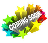 Coming Soon Announcement of New Product or Store Opening — Foto de Stock