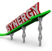 Synergy - Teamwork Partner for Combined Strength — Stock Photo