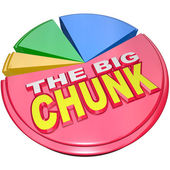 The Big Chunk - Largest Portion of Pie Chart Share — Stock Photo