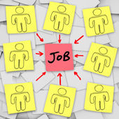 многие безработные кандидатов соревноваться за одно задание — Стоковое фото