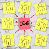 1 つのジョブを競う多くの失業者の候補者 — ストック写真