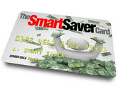 Credit Card - Smart Saver Discount Savings Pass — Stock Photo