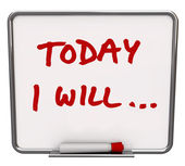 Today I Will Dry Erase Board Committed to Goal — Stock Photo