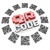 QR Codes in Ring Scan for Product Information — Стоковое фото