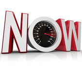 Now Speedometer Racing to Beat Urgent Deadline — Stock Photo
