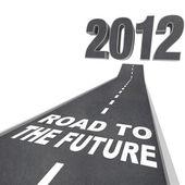 Droga do przyszłości - rok 2012 w ulicy — Zdjęcie stockowe