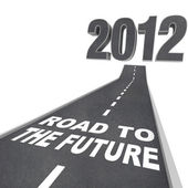 Vägen till framtiden - år 2012 i street — Stockfoto