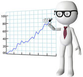 Manager drawing company growth success chart — Stock Photo