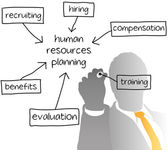 HR managing human resources business plan — Stockvector