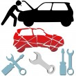 Royalty-Free Stock Vector Image: Auto Repair Maintenance Car Mechanic symbol set