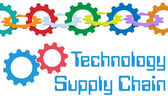 Gears Technology Supply Chain Management Border — Stock Vector