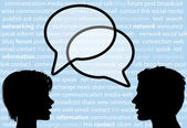 Talk share social network speech bubbles — Stock Vector