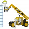 Construction equipment building cubes stack — Stock Photo