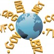 World top level URL internet WWW domain names — 图库矢量图片