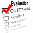 Outstanding job evalution check boxes - Stock Vector