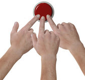 Hands click fingers push button icon — Stock Photo