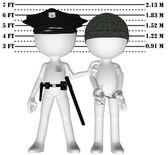 Police arrest criminal cop perp crime justice mugshot — Stock Photo