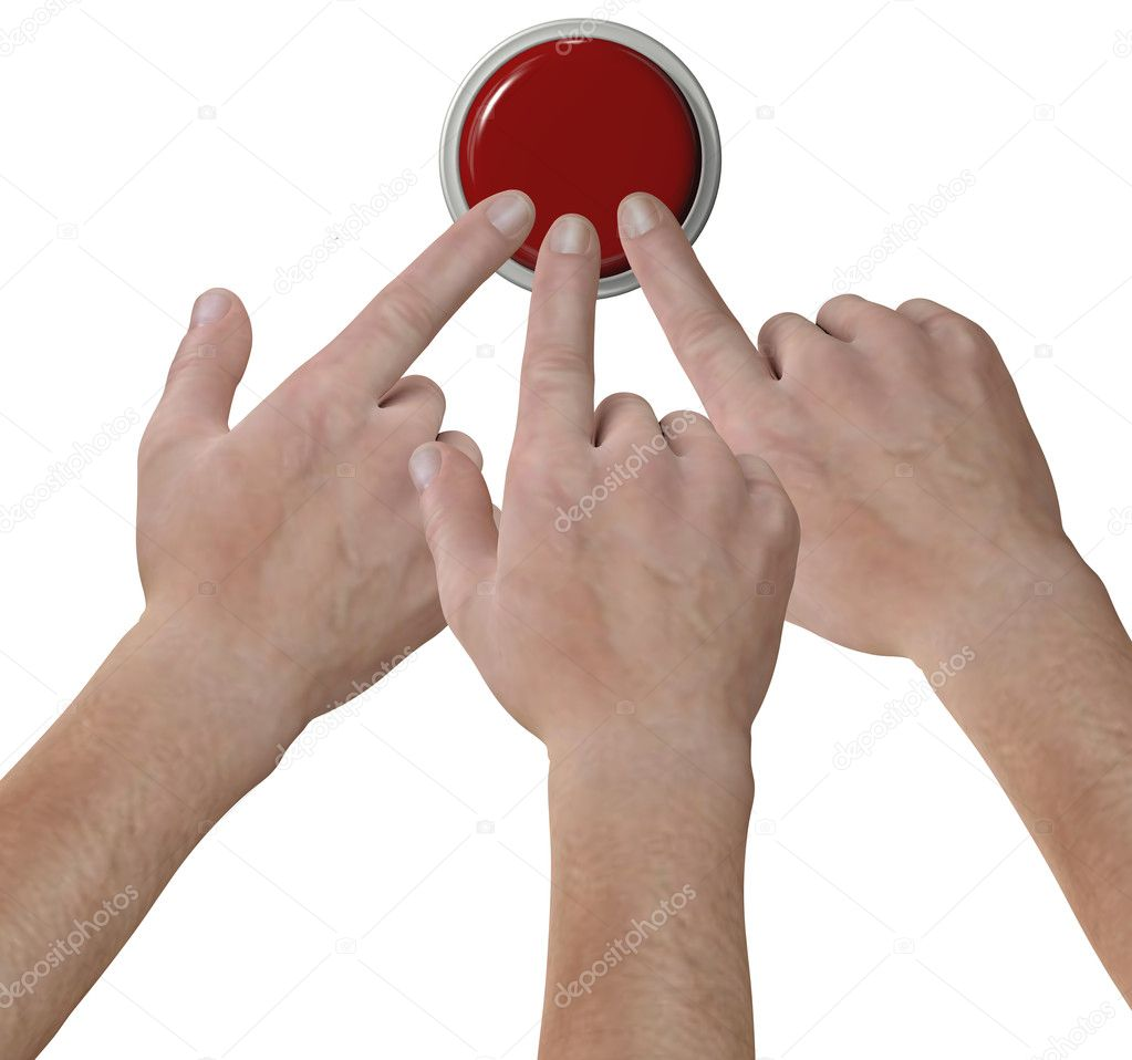 Hands click fingers push button icon stock image